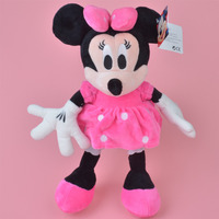 Pink Skrit Minnie Plush Toy 35cm Baby Gift Kids Doll Wholesale With Free Shipping