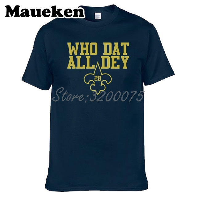 promo code 72d7b 13707 US $18.88  Men Adrian Peterson 28 Who Dat All Dey T shirt Clothes T Shirt  Men's for fans gift o neck tee W17082812-in T-Shirts from Men's Clothing on  ...