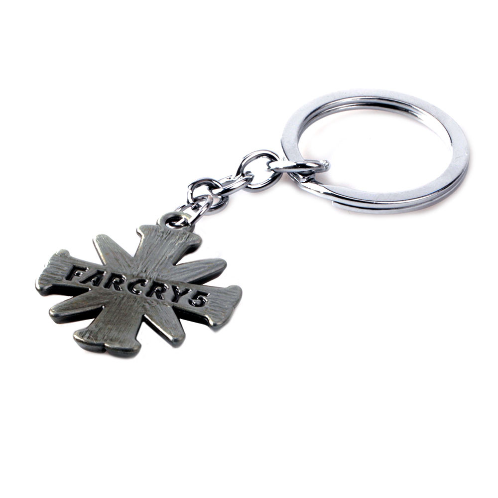 Game FARCRY5 Key Chains for Best Friend Cross FARCRY 5 Keychain Women Men Jewelry Bag Car Key Ring Holder Porte Clef Gifts
