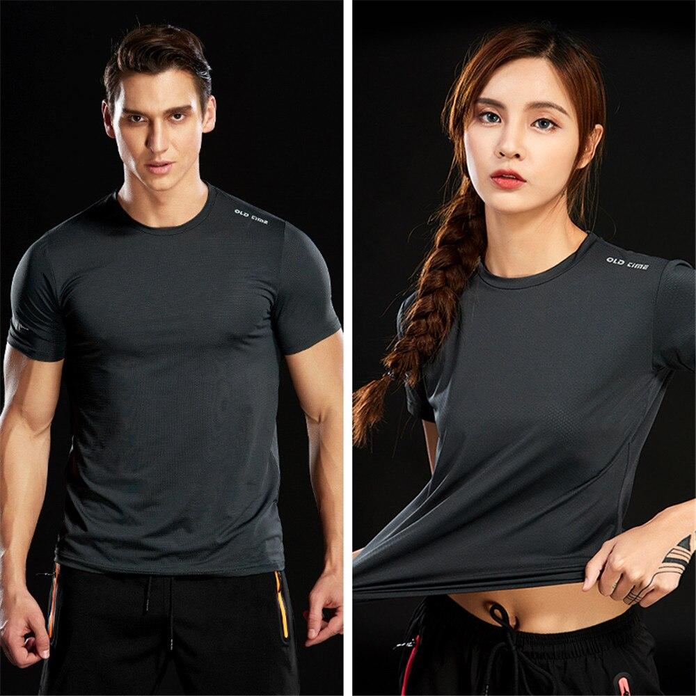 Мужская футболка с круглым вырезом WWKK, летняя футболка для бега и пешего туризма с рукавами и круглым вырезом, Стрейчевые футболки для фитне...