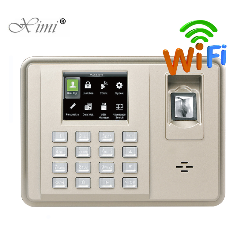 ZK TX638 WIFI Fingerprint Time Attendance 3 Inch Color Screen Biometric Fingerprint Employee Attendance Time Recorder Time Clock