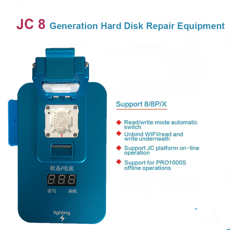 JC Pro1000S  PCIE NAND Programmer Test Fixture JC 8 Hard Disk Read Write Error Repair SN Repair For  iPhone 8 8P X Power Tool Sets     - title=