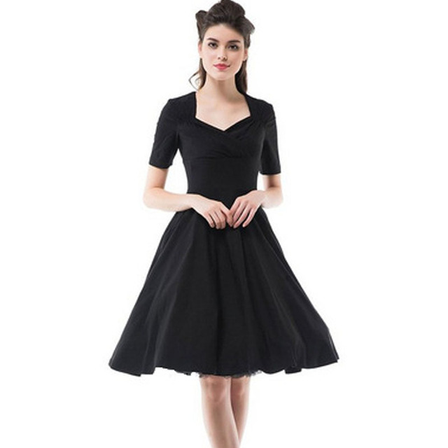 85e6120d6e0 Audrey  Hepburn Style 1950s 60s Vintage Retro Inspired Rockabilly Pin up  50s Swing Ball Gown Bridesmaid Party Dresses
