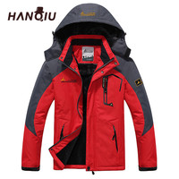 HANQIU Plus Size M 7XL Couple Models Jacket Men Women Fashion Hooded Windproof Waterproof Coat Brand
