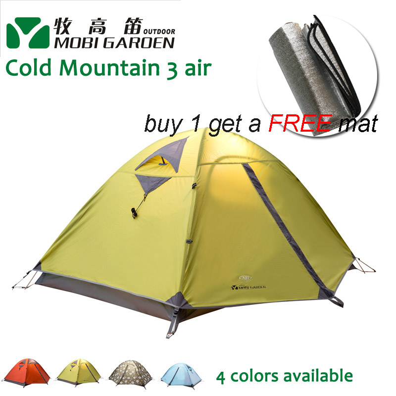 Mobi Gardon Cold Mountain 3AIR 3 people 3-season Double Layer Aluminum Pole Tent Professional Outdoor Camping Tent outdoor camping hiking automatic camping tent 4person double layer family tent sun shelter gazebo beach tent awning tourist tent