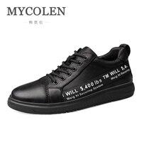 MYCOLEN 2018 Новая мужская повседневная обувь высокого качества модная Patwork для мужчин весна осень спортивная обувь Tenis Повседневная Masculino