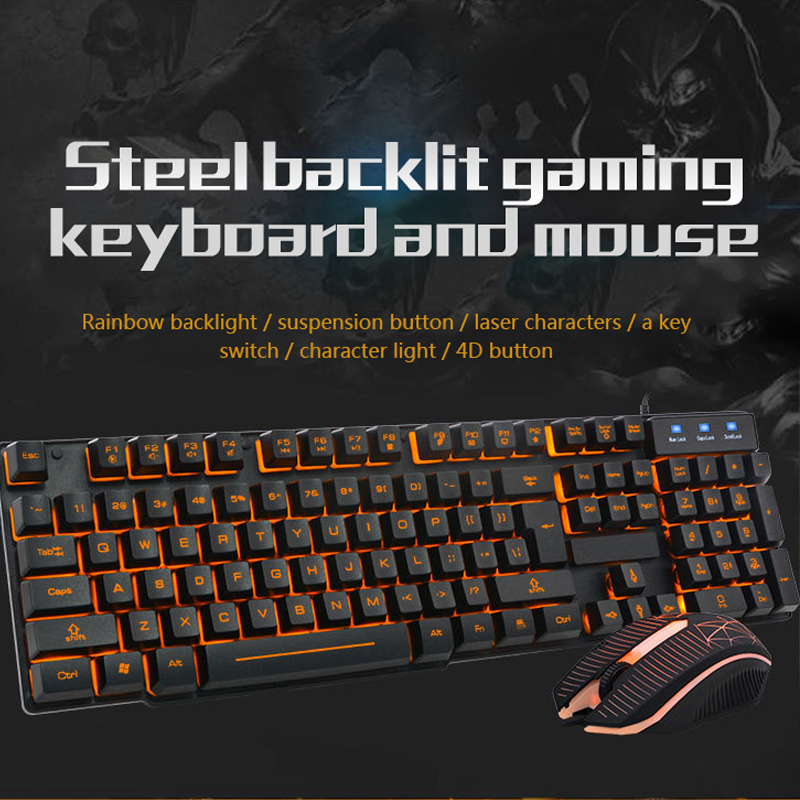Motospeed CK888 Mechanical Gaming Keyboard RGB Backlight Gamer Keyboard Mouse Set with 1.8M Cable for Computer Pro Gamer mechanical gaming keyboard motospeed k10 aluminium alloy top cover with bicolor injection keycaps keyboard gamer retail package