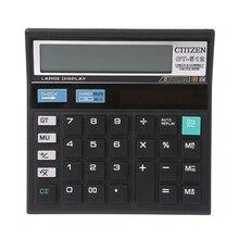 1 Pc 12-Digit Solar Battery Dual Power Large Display Office Desktop Calculator CT-512 Hot Selling