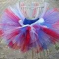 4th of July Baby Tutu Skirt ROYAL Blue Red White tutu Skirts for Kids Girls Ballet Tutu Tulle Skirt Clothing Dance 2-8Y PT242