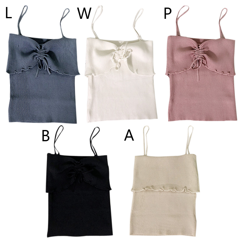 Summer Sexy Backless Sleeveless Camisole Women Ice Silk Knitted Camis Top Retro Vintage Solid Bow Lace up Camisole Vest Female in Camis from Women 39 s Clothing