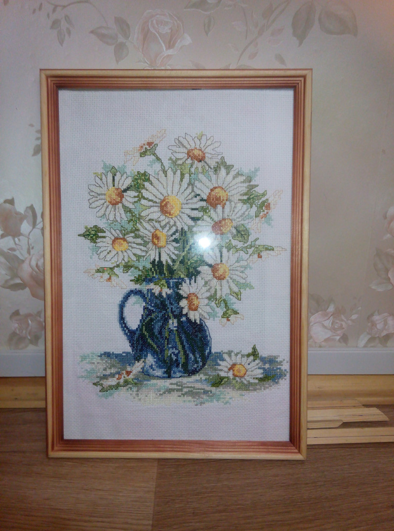 Daisy Vase Flower Chinses Embroidery Cross Stitch Kits Pattern Home Decor Counted Print On Canvas DIY Painting DMC Set 11CT 14CT 6