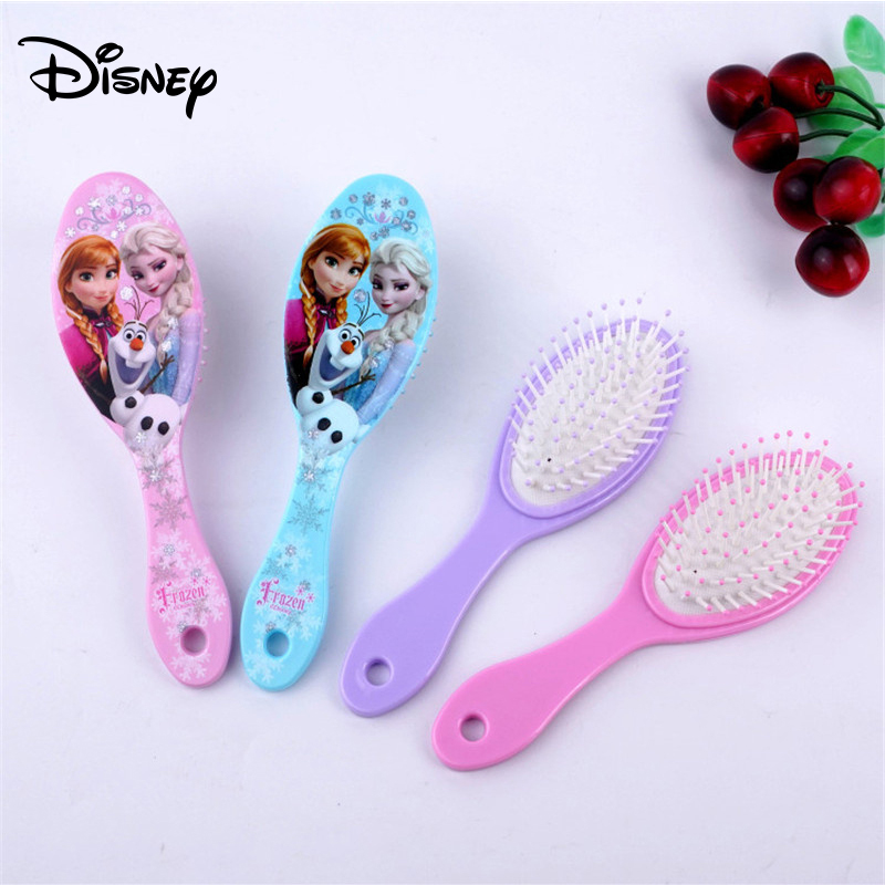 Disney Elsa Anna Princess Air Cushion Comb The Frozen Girls Comb Children Baby Cartoon Anti-static Comb