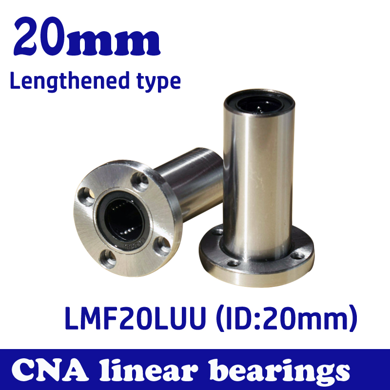 Free shipping LMF20LUU long type 20mm flange linear bearing CNC Linear Bush free shipping lmk12luu long type 12mm flange linear bearing cnc linear bush