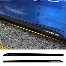 Para BMW F30 F31 F32 F33 F22 F23 F15 F85 F10 E60 E61 G30 E90 M rendimiento pegatinas falda lateral de ajuste accesorios de coche