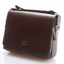 حقيبة الكنغر من الجلد الناعم للرجال من علامة تجارية مميزة حقيبة سفر للأعمال والمكتب والكمبيوتر المحمول مزودة بغطاء حقائب ساعي البريد