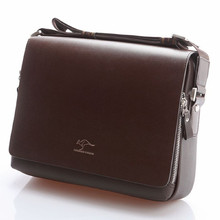 Designer Brand Kangaroo Briefcase Men Soft Leather Shoulder Travel Bag Business office Comp