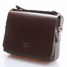 Designer Brand Kangaroo Briefcase Men Soft Leather Shoulder