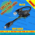 GPG 3 in 1 micro USB cable for LG+Free Shipping