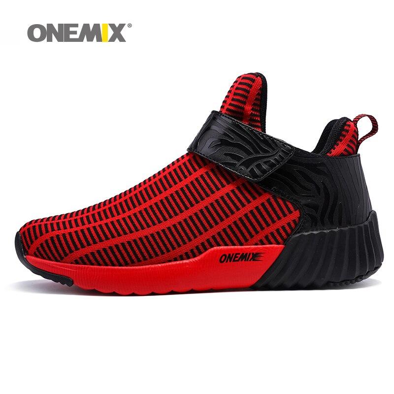 Onemix Homens & Mulheres Outono & Inverno Botas de Camurça Tênis de Couro Cabeludo Durável Quente Ao Ar Livre Tênis de corrida do Esporte Dos Homens sapatos Sneakers