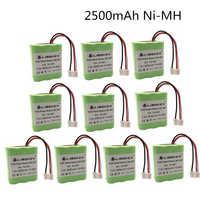 7.2 volts novo 2.5ah 2500 mah ni-mh 7.2 v bateria recarregável para irobot roomba braava 380 380 t de alta qualidade