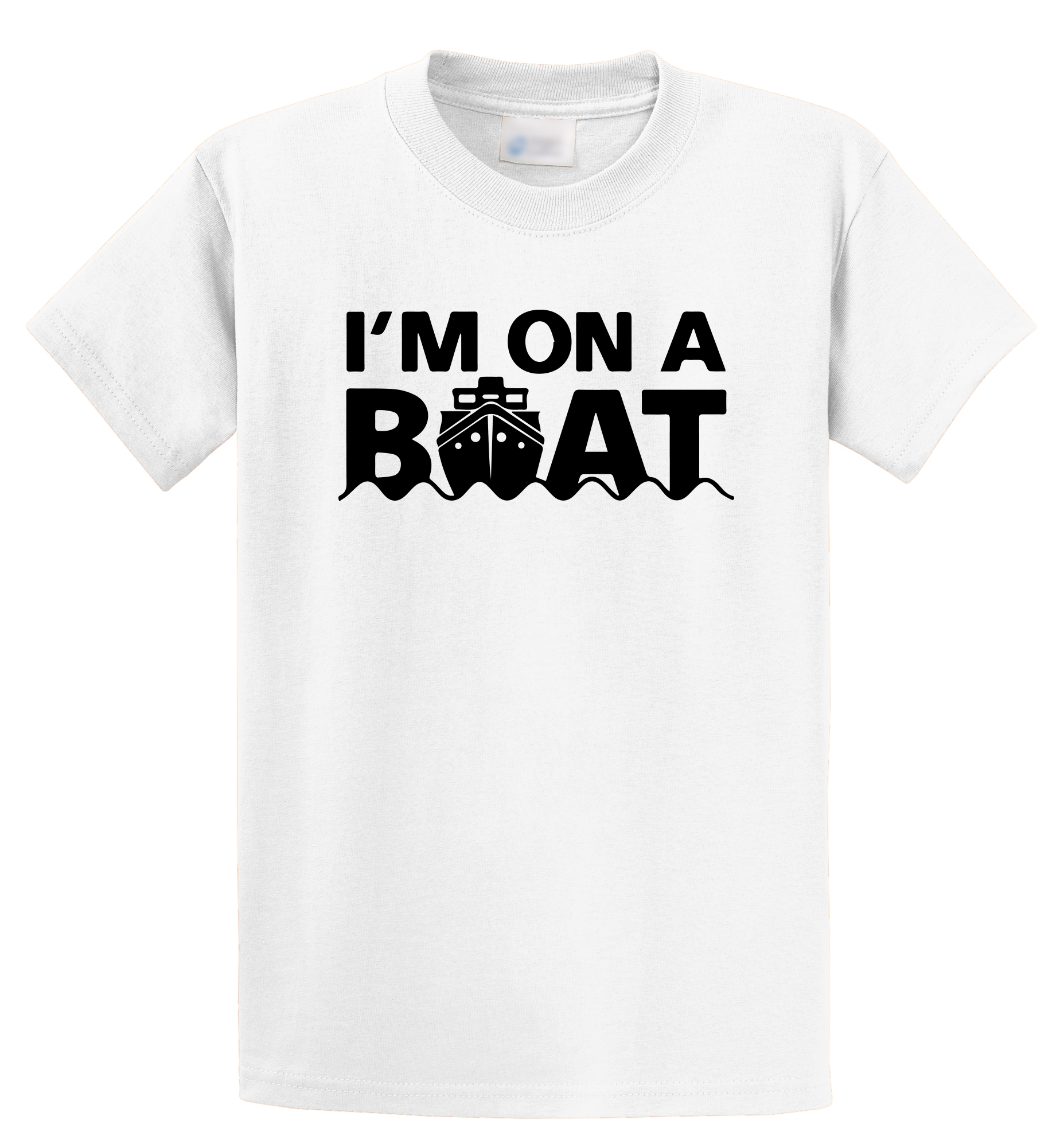 Wholesale T Shirts O-Neck Funny Short Sleeve Mens I'M On A Boat Funny Spoof  Boating Sailor Cruise Trip  Captain T Shirt