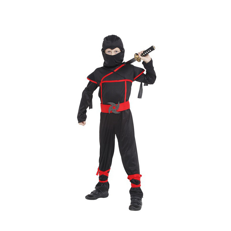 Hot Sale Naruto Clothes Cosplay Funny Halloween Costume For Kids New Naughty Stage Boys Jumpsuit Children Performance Show YW013