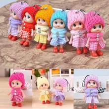 1pcs 2018 NEW Kids Toys Soft Interactive Baby Dolls Toy Mini Doll 8 CM For Girls(China)