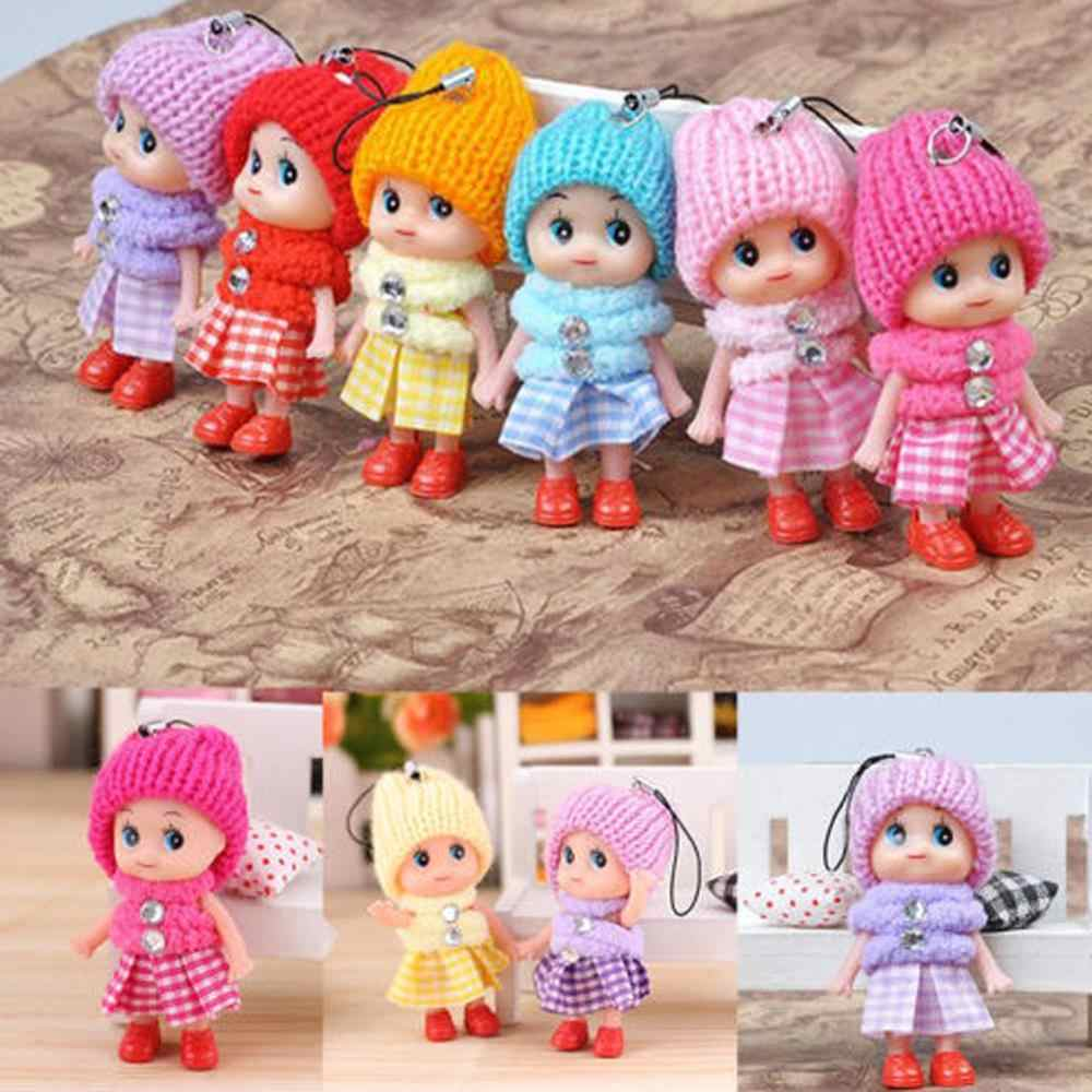 1pcs 2018 NEW Kids Toys Soft Interactive Baby Dolls Toy Mini Doll 8 CM For Girls