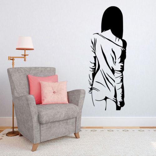 Beauty Girl Wall Sticker Removable Woman Teen Bedroom Vinyl Decals ...