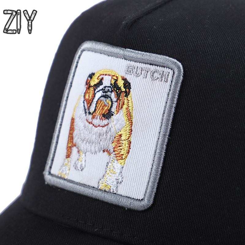 e7492ab88acbc 2018 Embroidery Butch Baseball Cap Animals Snapback Bone Casual Cotton Mesh  Summer Breathable Cap Trucker Hip Hip Streetwear Cap-in Baseball Caps from  ...