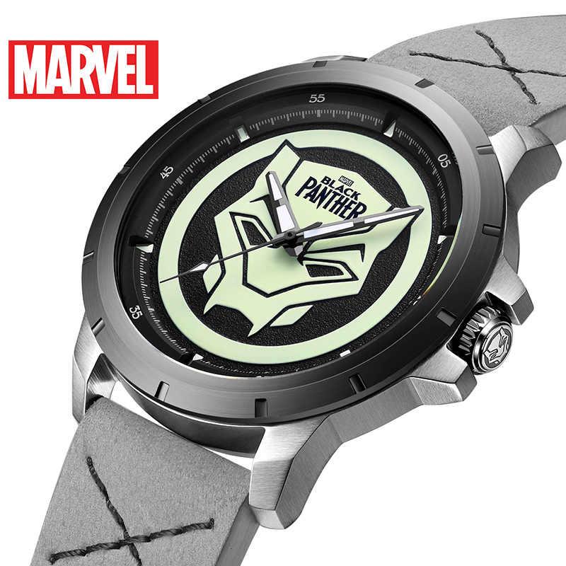 9828538be 2019 nuevo Marvel vengadores Pantera Negra luminoso impermeable para hombre  reloj de cuarzo de marca superior