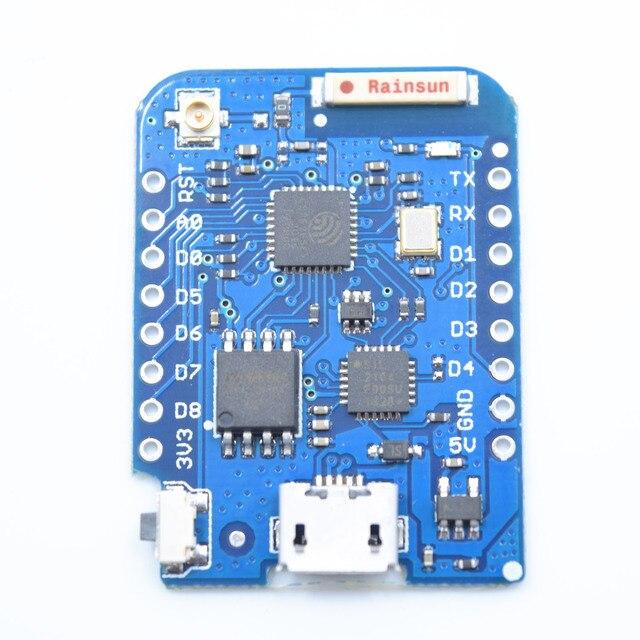 Wemos d1ミニproの16メートルバイト外部アンテナコネクタESP8266 wifiインターネットの物事開発ボード