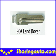 Metal Blank Uncut Flip Remote Key Blade  Type 20# for Land Rover 10pcs/lot