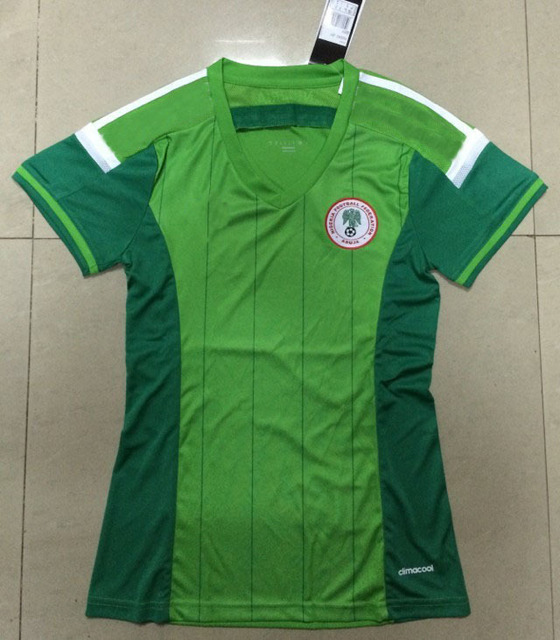 new Free Shipping best thai top quality 2014 world cup Nigeria home female women  Soccer Jersey Soccer Shirt. 0e6edfe326
