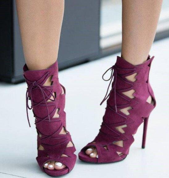 Moraima Snc Hollow Out Peep Toe Lace Up Ankle Boot Stiletto High Heel Sandals for Woman Summer Thin Heels Dress Shoes Moraima Snc Hollow Out Peep Toe Lace Up Ankle Boot Stiletto High Heel Sandals for Woman Summer Thin Heels Dress Shoes