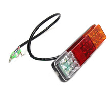 купить 2Pcs Forklift Rear Tail Lights 12V 24V Truck Trailer LED Red Yellow White Stop Light Reverse Lamp Turn Signal Light дешево