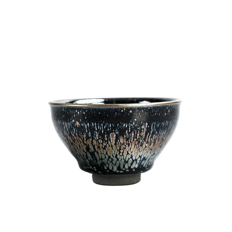 1pc Black Ceramics Teacups Chinese Kung Fu Tea Set Porcelain Teacup Small Tea Bowl Teaware Container Collection Cups Drinkware