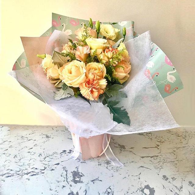Flamingo Waterproof Packaging Paper Cactus Flowers Wrapping Paper ...