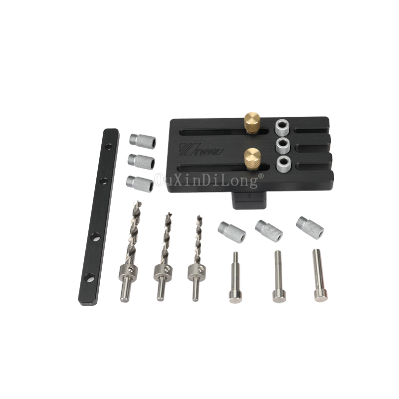 Premium Woodworking tools Wood Dowelling Jig Master Kit Set For Drilling 6mm,8mm,10mm Dowel Holes with Twist Drill Set KF1028-in Tool Parts from Tools    1
