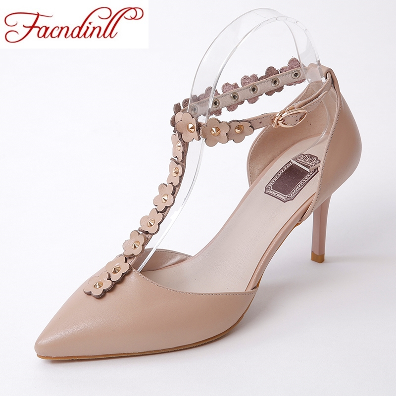 FACNDINLL genuine leather women pumps new sexy high heels pointed toe sweet pink shoes woman dress party wedding summer shoes new spring summer women pumps fashion pointed toe high heels shoes woman party wedding ladies shoes leopard pu leather
