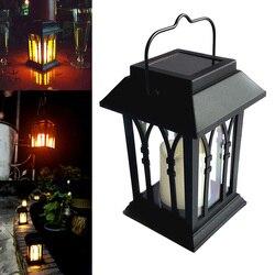 Energia słoneczna wodoodporne światło świec LED na trawnik ogrodowy Decor Path Street lampa wisząca latarenka SDF SHIP|Lampy gazonowe|   -