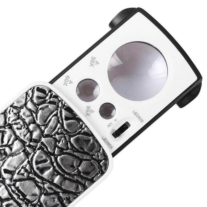 AOMEKIE 30X 60X 90X拡大鏡(LED - 計測器 - 写真 3