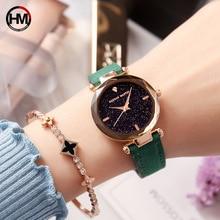 цены Hannah Martin Watch Women Exquisite Luxury Diamond Quartz Ladies Watch Fashion Leather Wristwatch Women watches relogio feminino