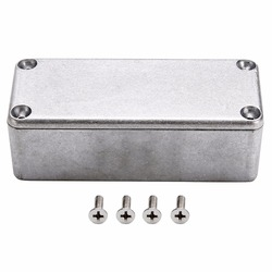 1pc Silver 1590A Aluminium Enclosure Box Hammond Diecast Stompbox Electronic Project Case 92x38x31mm