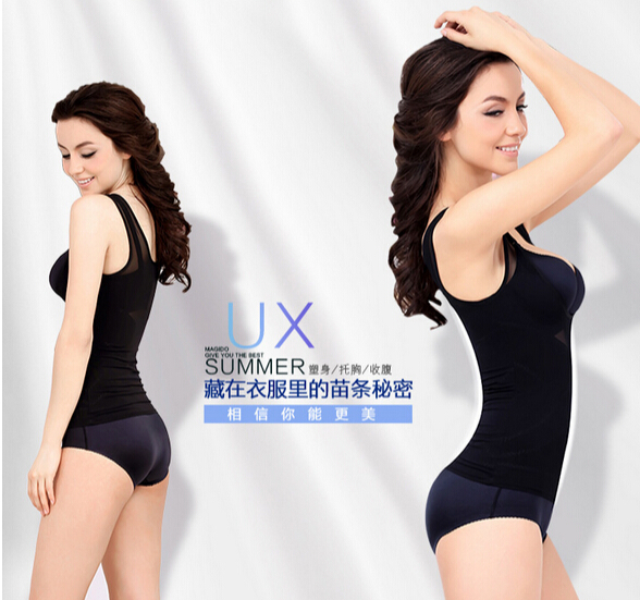 1pcs/lot free shipping Women Body Shaper Waist Trainer Slimmer Underbust Vest Top Underwear Control Shapewear exercise Corsets