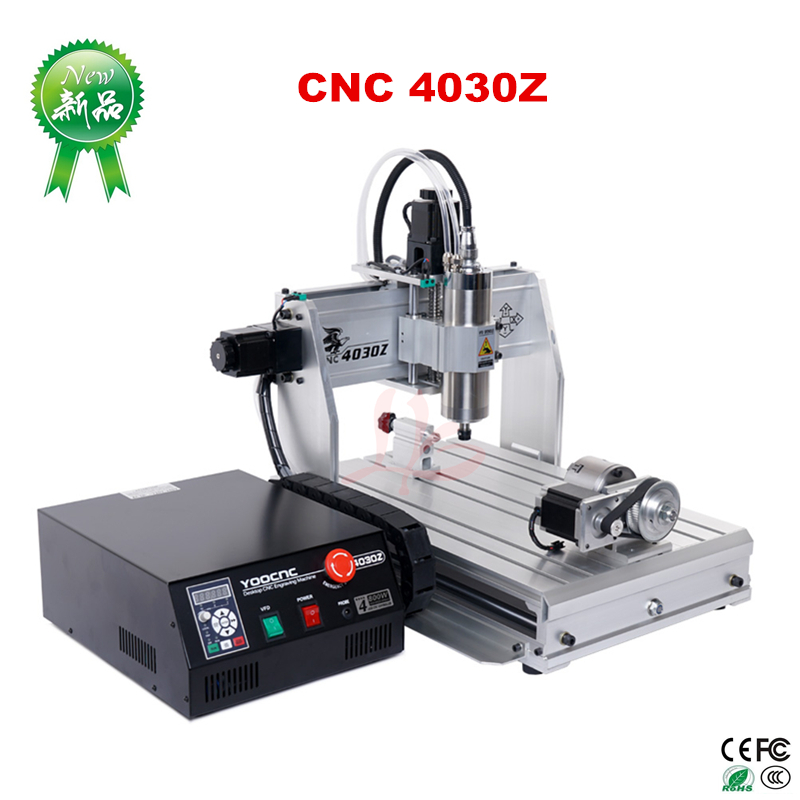 4 axis cnc router 4030 Engraving Machine with USB port water cool spindle motor