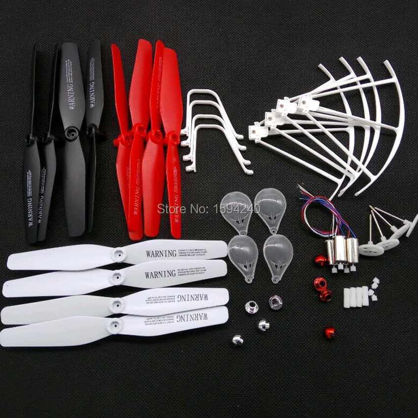 Syma X5UC X5UW RC Drone Spare Parts motors engines propeller landing skid guard propellers protection syma x5uc x5uw rc drone spare parts engines gear propeller landing gear skid protectors ring lampshade accessories