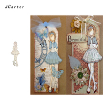 JC 2019 New Arrival Beautiful Lady Girl Metal Cutting Dies for Scrapbooking DIY Embossing Folder Stencil Handmade Album Crafts