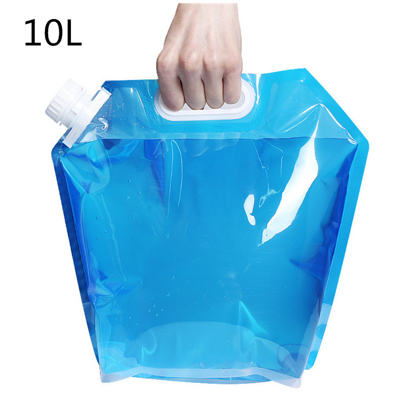 10L Foldable Water Bag Emergency Water Storge Container Outdoor Sports Camping Hiking Picnic Bucket Lifting Carrier