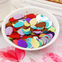 HOT ! 300pcs 12*20mm Mixed color Egg Oval Loose Sequin Paillette Crafts Sewing ,Wedding Craft,Women Kids DIY Garment Accessory